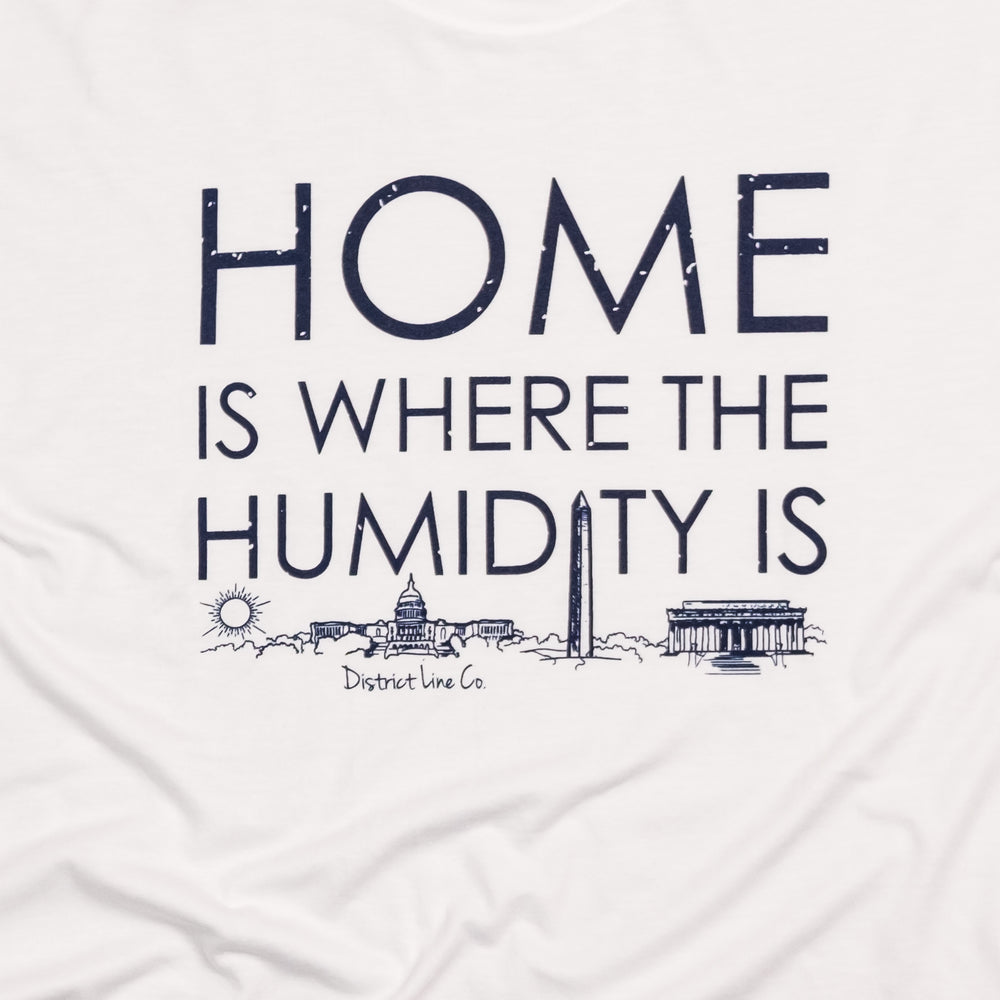 District Line Co. | Home is Where the Humidity Is Unisex Men's Tee | White | Humidity