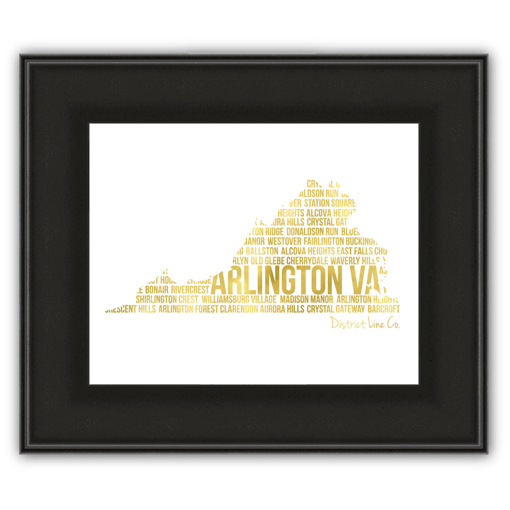 Arlington Love Art Print- Gold Foil