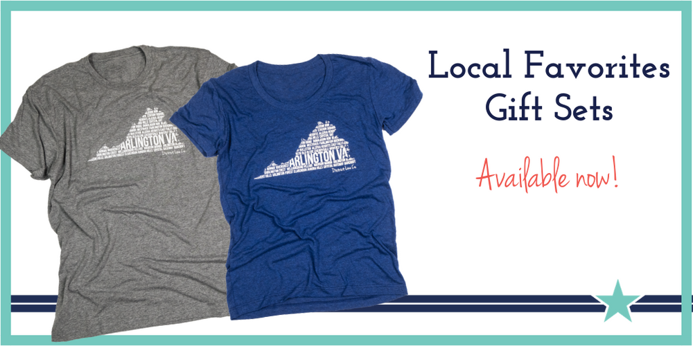 Local Loudoun Favorites Gift Sets- 2 Bestselling Tees + 6-pack of Notecards
