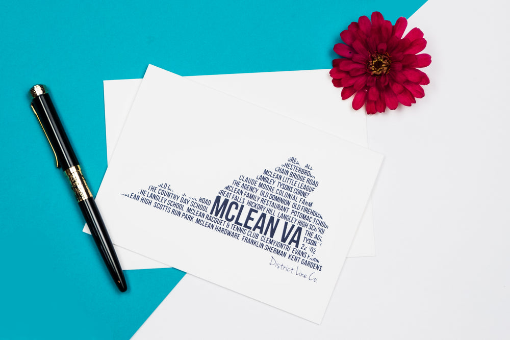 Local McLean Favorites Gift Sets- 2 Bestselling Tees + 6-pack of Notecards
