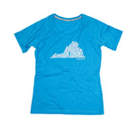RUN VIRGINIA | Women's Running Tee | Blue