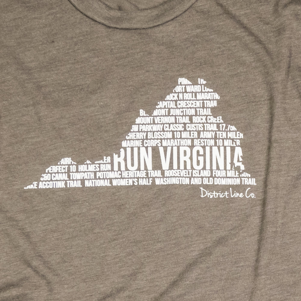 RUN VIRGINIA | Unisex Tee | Taupe