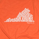RUN VIRGINIA | Unisex Running Tee | Deep Orange