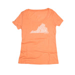 RUN VIRGINIA | Women's Running Tee | Light Orange