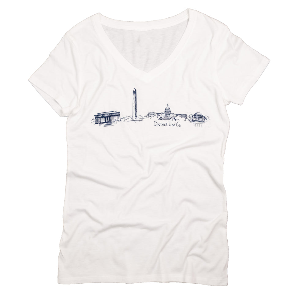 DC Skyline | Women's Tee | White
