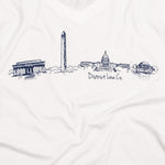 District Line Co. | DC Skyline Women's Tee | White | Signature | Washington D.C. | This Is My Local