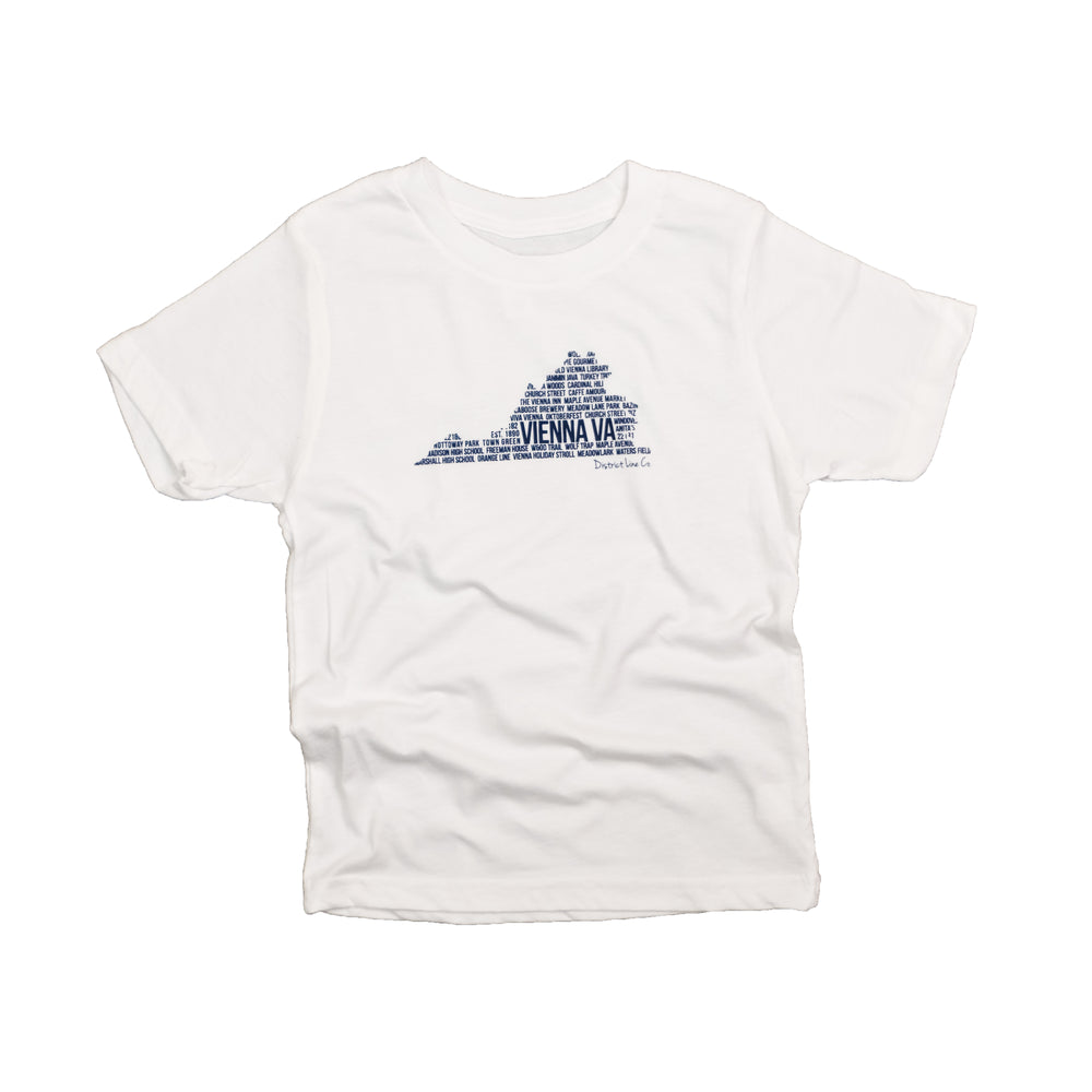Vienna, VA | Kid's Tee | White