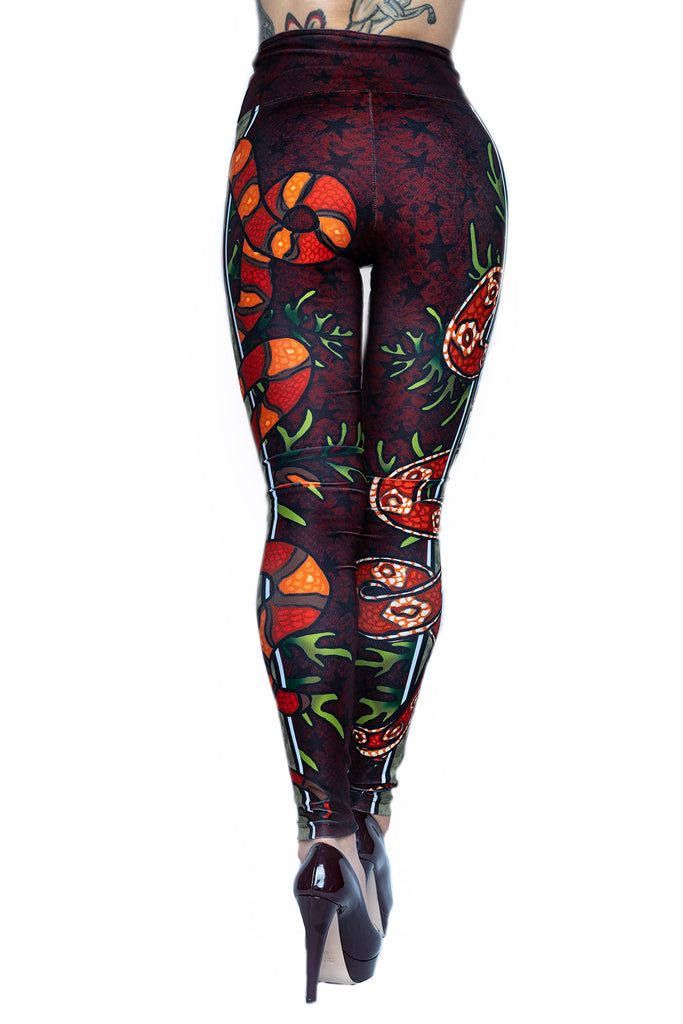 """SNAKE EYES"" leggings"