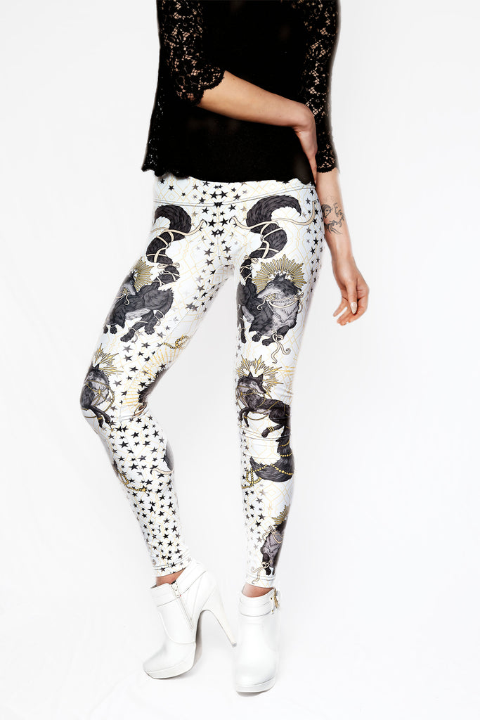 """SHE-WOLF"" leggings - white"
