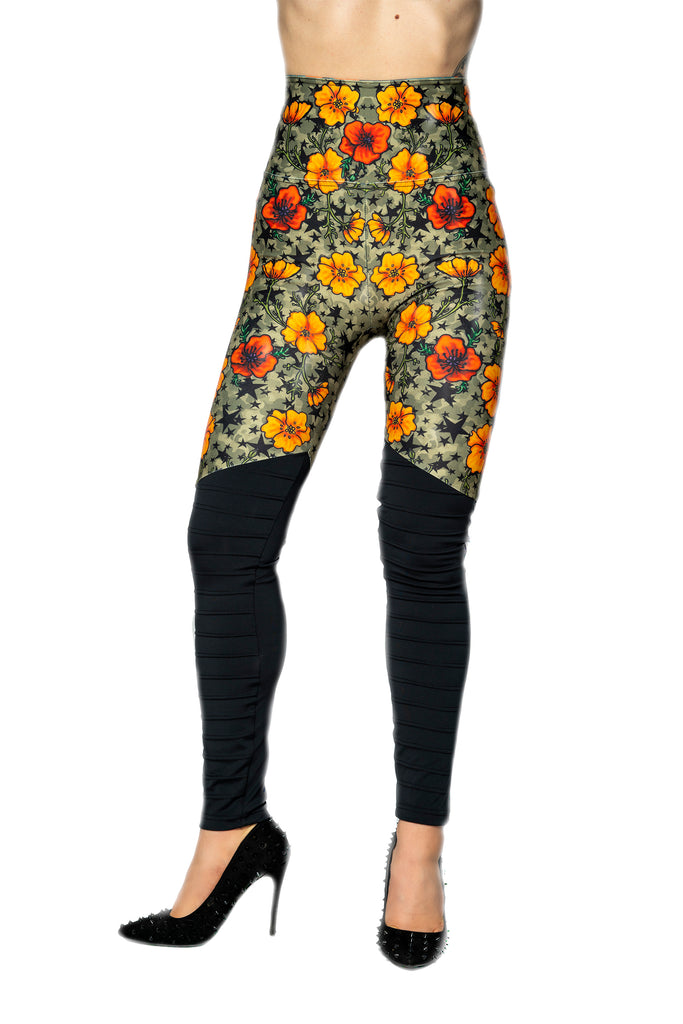 "Special Edition ""POPPY"" moto leggings"
