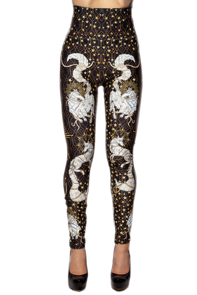 "Special Edition ""SHE-WOLF"" leggings - all black"