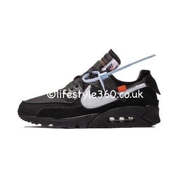 585cbe52 Off-White x Nike AirMax 90 Black Sneakers/Shoes/Trainers ...