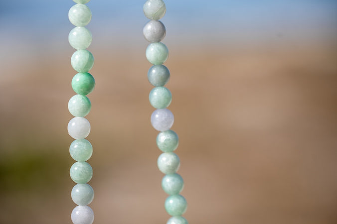 Floating Burmese Jade Necklace