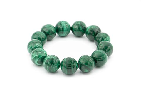 Malachite 18mm Gemstone Bracelet.