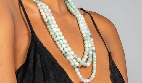 Jade Necklace Stack