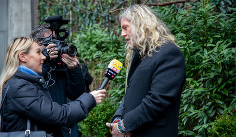 Jon being interviewed by RTL