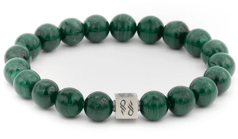 Malachite Sterling Silver Gemstone Bracelet.