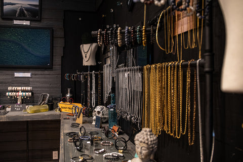 Necklace wall.