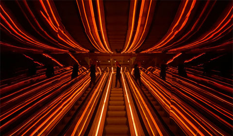 Public Hotel Manhattan NY escalator