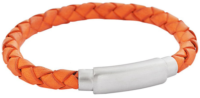 Orange soft braided leather feature img