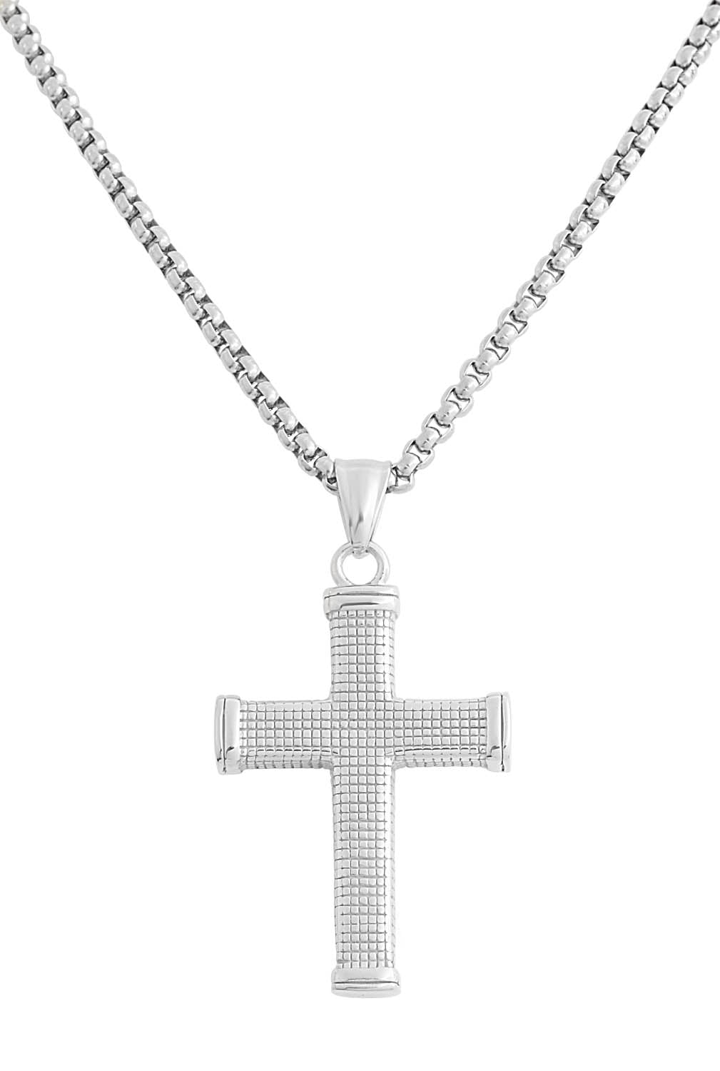 """ Cross Necklace"" = Stainless Steel "" Box Design"""