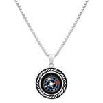 Functioning Stainless Steel Compass Necklace