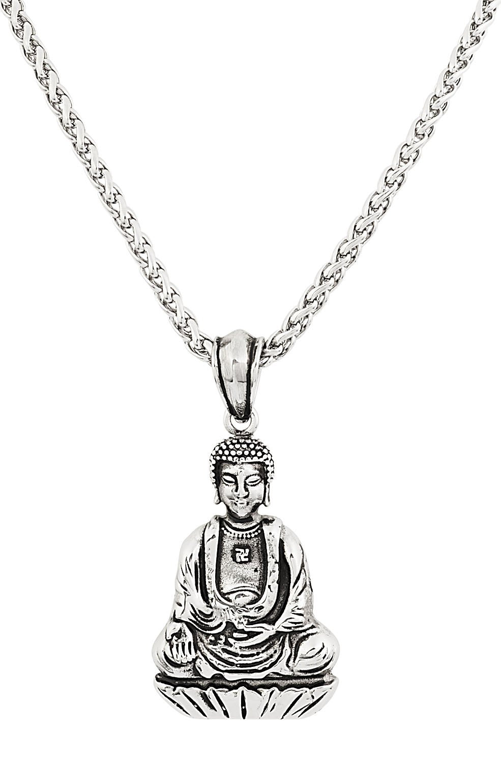 Stainless Steel Sitting Buddha Necklace