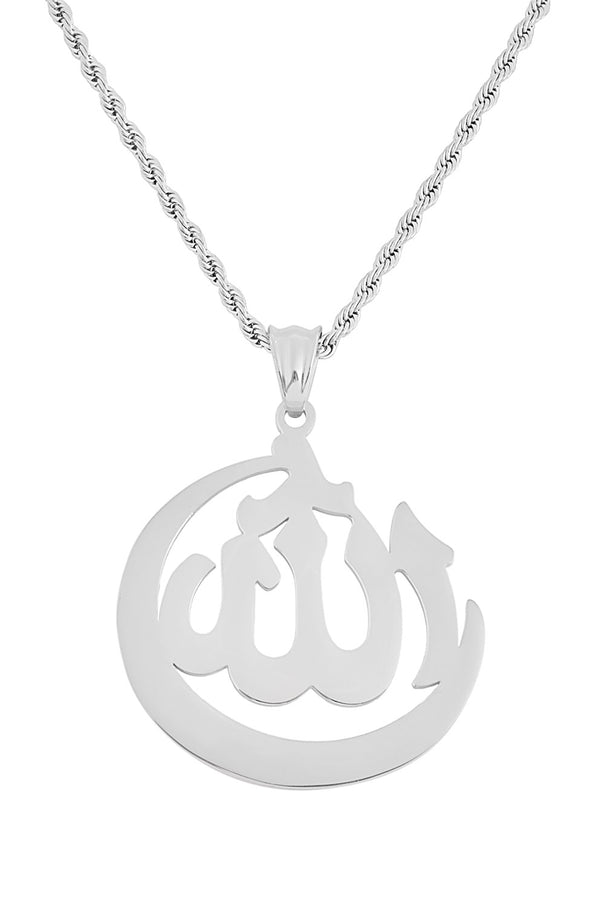 Stainless Steel Allah Symbol Necklace