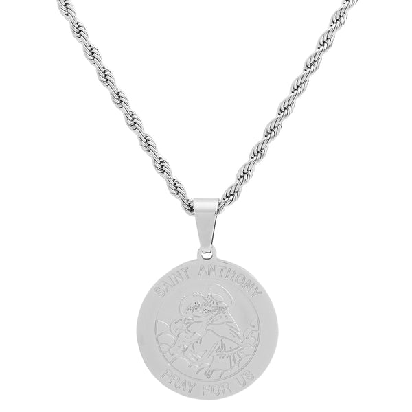Stainless Steel Saint Anthony Necklace