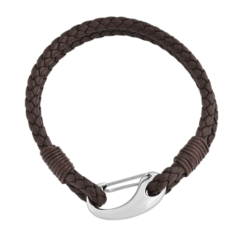 Dual Layered Braided Leather Bracelet