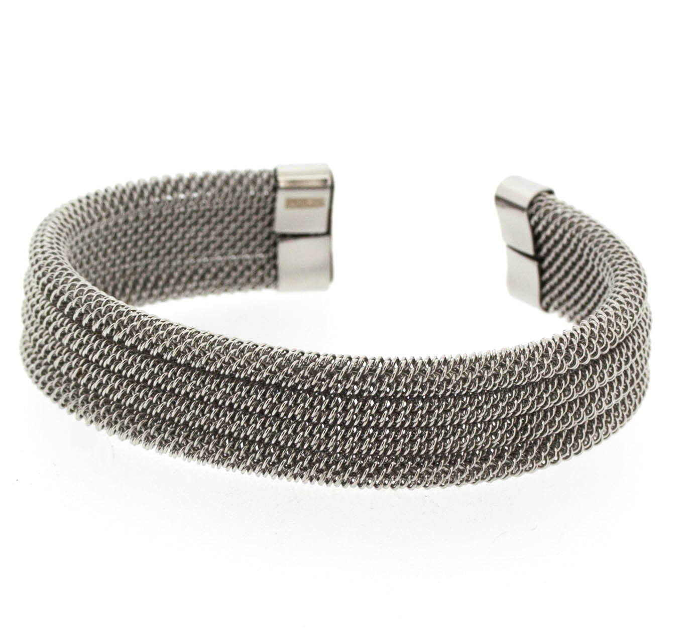 3 Layer Silver Cable Wire Cuff