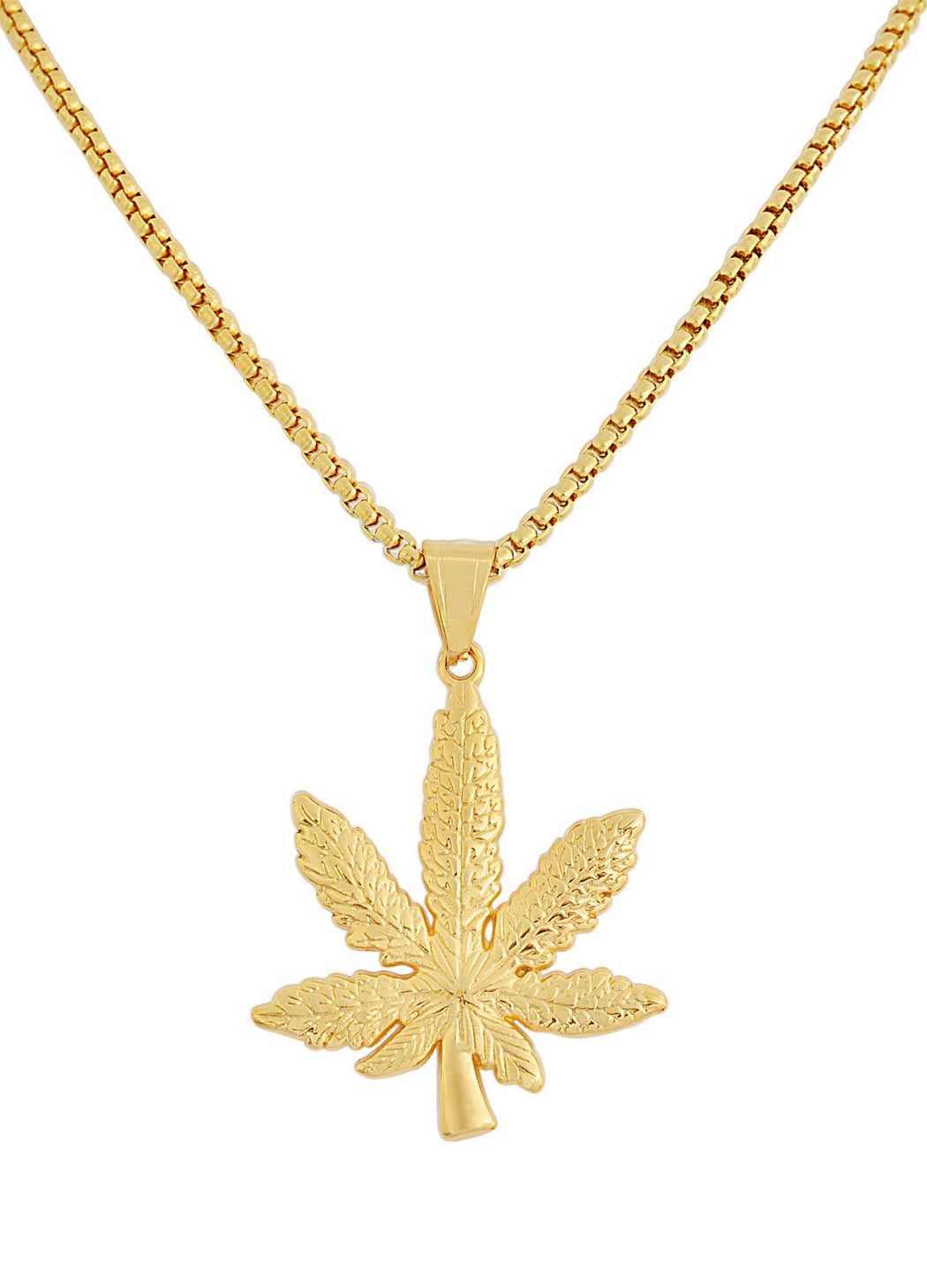 Weed Plant Pendant Necklace feature img full length