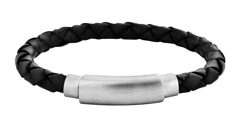 Braided Full- Grain Leather Bracelet