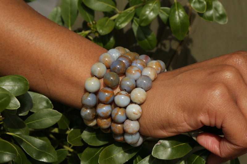 Chalcedony Natural Gemstone Bracelet