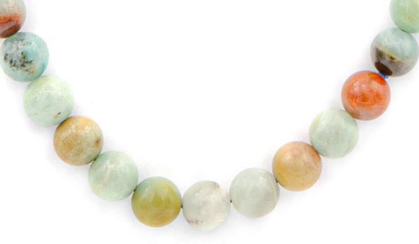 amazonite natural stone necklace close up