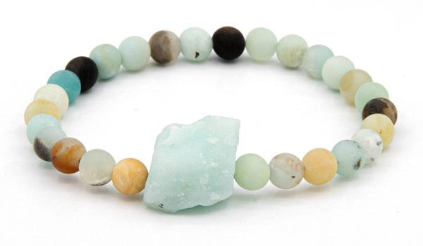 Amazonite raw natural stone bracelet