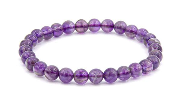 Amethyst 8mm natural stone bracelet