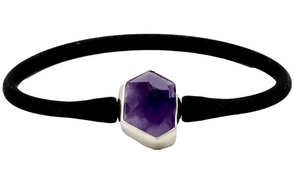Sterling Silver Amethyst Athleisure Bracelet.