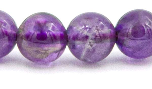 Amethyst 8mm close up