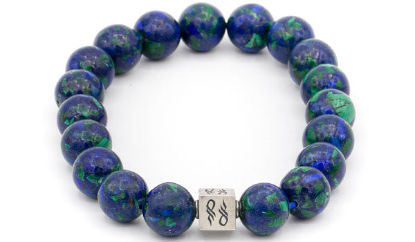 Azurite Natural Gemstone Centerpiece Bracelet
