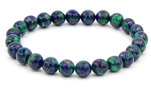 Azurite natural stone bracelet 8mm