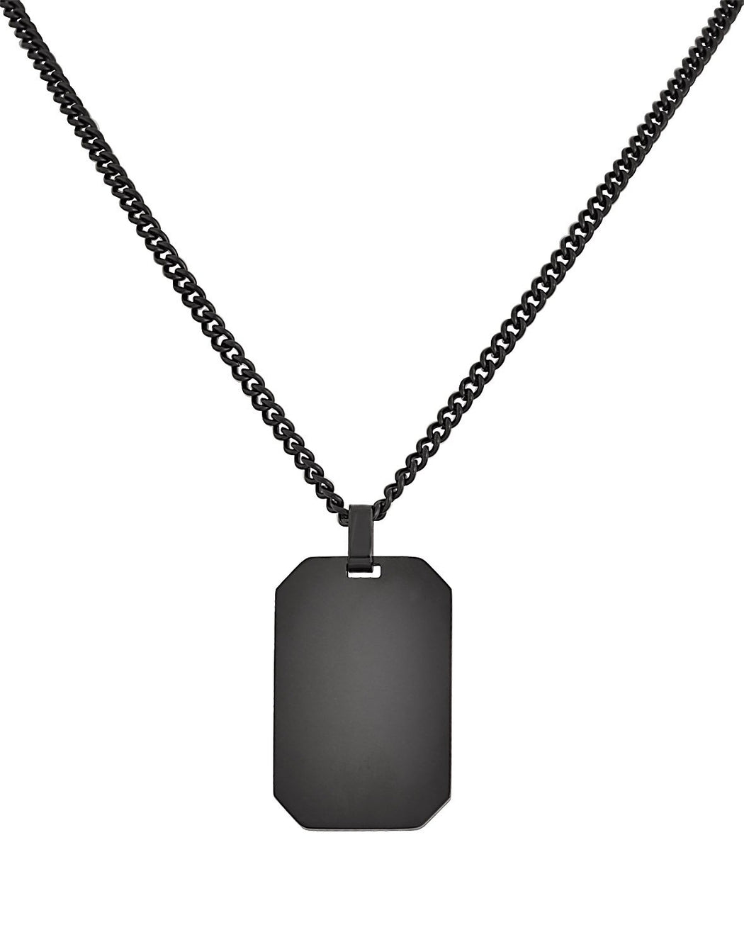 BlackDog Tag Pendant Necklace Feature img full length