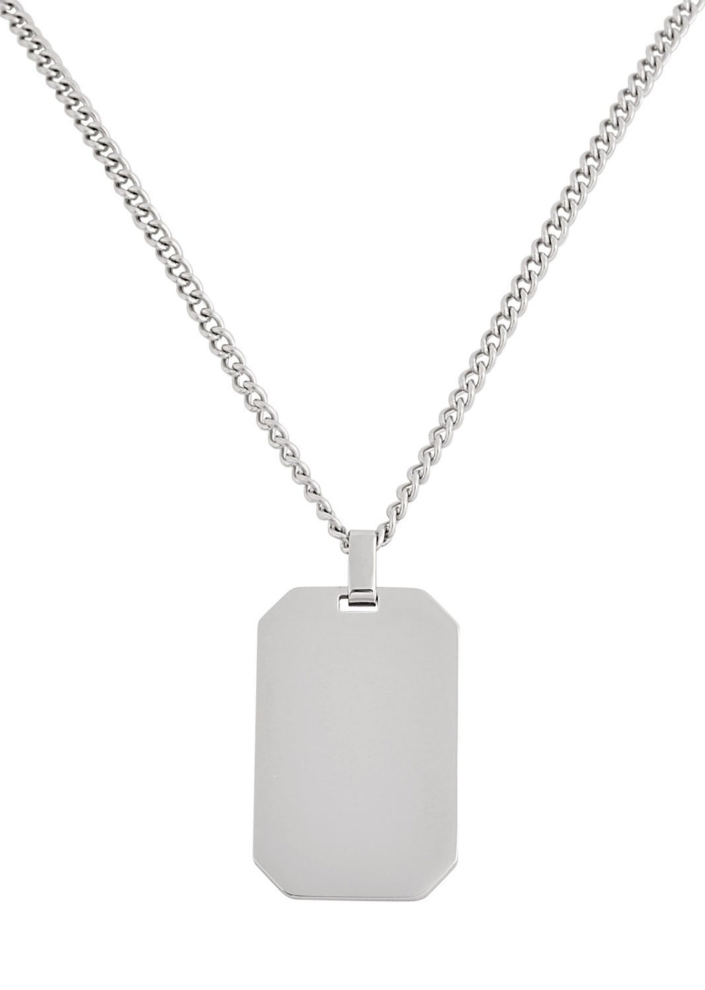 Stainless Steel Gloss Dog- Tag Necklace