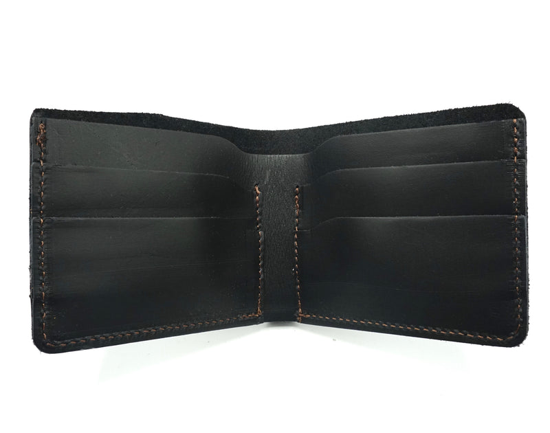 Black Onyx Top- Grain Leather Knox Bifold Wallet