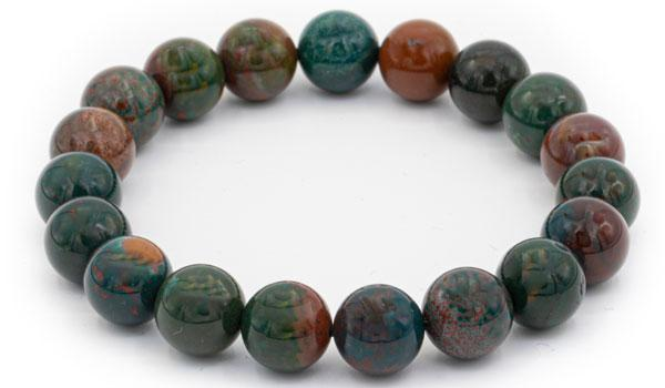 Bloodstone natural stone bracelet