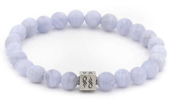 Blue Lace Agate Natural Gemstone Centerpiece Bracelet