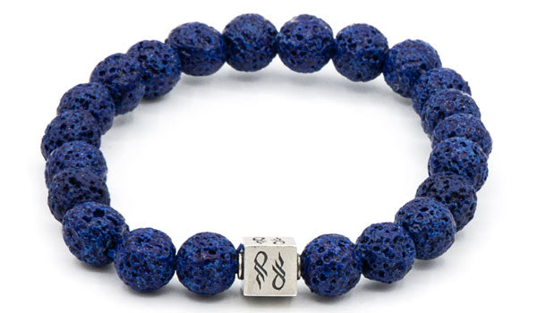 Blue Lava Natural Gemstone Centerpiece Bracelet