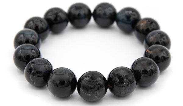 Alt=Blue Tigers Eye Gemstone Bracelet