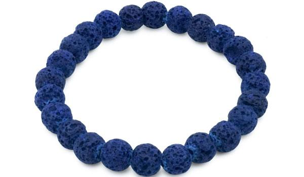 blue lava natural stone bracelet feature img