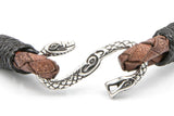 brown leather bracelet clasp